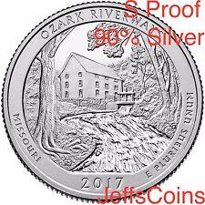 2017 S Ozark Riverways 90% SILVER Park Quarter Proof ATB U.S.Mint 25¢Missouri