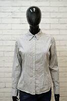 TOMMY HILFIGER Camicia a Righe Donna Polo Taglia S Camicetta Shirt Woman Casual
