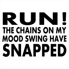 RUN THE CHAINS ON MY MOOD SWING SNAPPED Vinyl Decal Window Sticker Car Truck ART