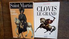Lot de 2 livres de Ivan Gobry : Clovis le Grand + Saint Martin