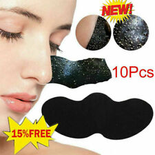 10Pcs Nose Pore Cleansing Strips Bamboo Charcoal Black AU Head Patch Nose K2G5