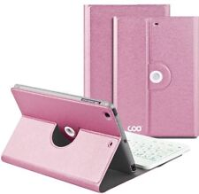 Wireless Keyboard Case Removable Compatible W/iPad Mini 1/2/3 (Rose Pink)