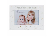 """Bambino Me and My Sister Teddy Icon Photo Frame 6"""" x 4"""" Gift Boxed"""