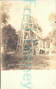 RPPC - Shiloh, OK - Oil Well - Oil Drilling Scene - early 1900s