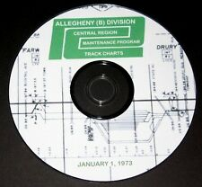 Penn Central 1973 Allegheny Division Track Chart  PDF pages DVD
