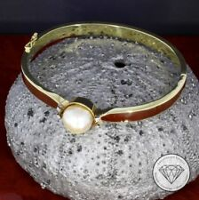 9CT Gold Mutter Armreif Cubic Zirkonia Mumie Oval Tube Klappbar Sklave Verpackt