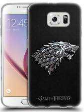 Étui Coque Samsung Galaxy S6 en Gel molle, Officiel HBO Game Of Thrones Argent