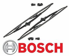 """BMW E30 Ford Set of 2 Front Windshield Wiper Blades 20"""" 40720A Bosch Micro Edge"""