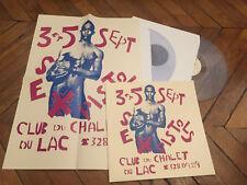 SEX PISTOLS Live Chalet du lac Paris 76 2LP Vinyl couleur & poster MEGA RARE
