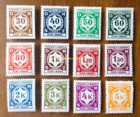 EBS Bohemia & Moravia 1941 - Officials - Dienstmarken - Michel 1-12 MNH**