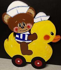 Nursery or Child's Wall Decor. - Teddy Bear, Duck - Sailor Hats - Really Cute!