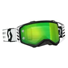Maschera Cross Enduro Scott Prospect Goggles Mx Black - White / Green Chrome