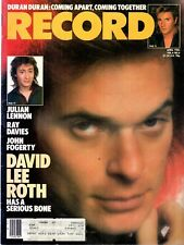 Record Magazine April 1985 Issue David Lee Roth Cover