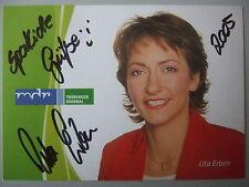 """Autogrammkarte: """"Uta Erben""""- MDR -handsigniert"""