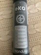 Manduka EKO Superlite Travel Yoga and Pilates Mat Charcoal Gray New