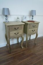 Pair Of Charroux Two Drawer Bedsides Cabinets In Light Oak Finish - Handmade