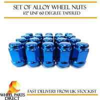 """Alloy Wheel Nuts Blue (20) 1/2"""" UNF Tapered for Jeep Grand Cherokee 1991-2010"""