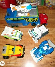 Lot of Playskool Transformers Rescue Bots 2015 Optimus Prime with Rig