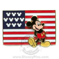 Disney Pin 54218 American Flag Mickey Mouse United States Pin-on-pin Patriotic