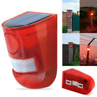 6 LED Waterproof Solar Warning Light Sound Alarm Wall Lamp Sensor Garden Yard