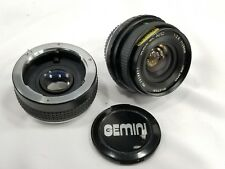 Gemini MC AUTO 28mm f/2.8 Pentax PK Manual Focus Prime Lens w/2X Tele Converter