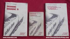1986 SKI DOO Snowmobile Operators Manuals SET OF 3
