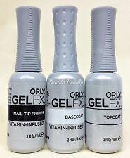 ORLY GELFX 3PC KIT - Primer + Base Coat + Top Coat COMBO - 0.3oz/9ml