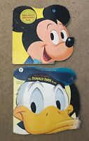 Disney's Mickey Mouse and Donald Duck Books - A Golden Shape Book Vintage 1960s