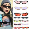Classic Women Small Rectangular Frame Square Glasses Shades Vintage Sunglasses