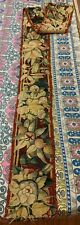 """ANTIQUE 18C AUBUSSON FRENCH HAND WOVEN TAPESTRY RUG  PANELS BORDER 9"""" X 94"""""""