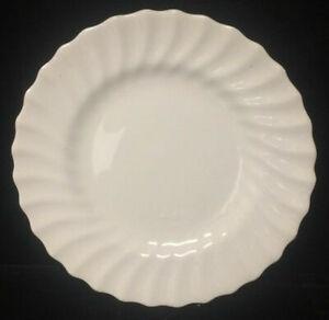 "2 x Royal Doulton China Cascade White Swirl Scalloped  Bread Plate(s) - 6 1/4"""