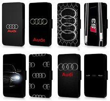Alemán Audi Funda para Estuche Abatible de teléfono de rendimiento deportivo tipo billetera para iPhone/Samsung