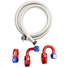 Car AN10 9/16'' Stainless Steel Braided Rubber Fitting Fuel Oil Hose Pipe 1M