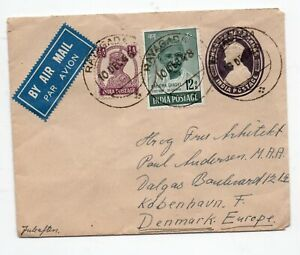 1948 Cover from Rayagada to Denmark, with Gandhi stamp