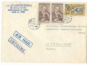 Airmail Envelope From Ceskoslovensko To London NW 10
