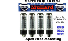 Matched Quad EL34 Mullard Russian tube set  reissue of FX2 vintage Marshall amps