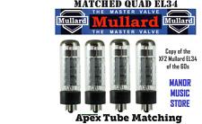 Matched Quad EL34 Mullard Russian tube set  reissue of FX2 vintage Marshall amps