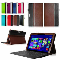 For Microsoft Surface Tablet Folio Leather Case Cover With Keyboard Holder Stand