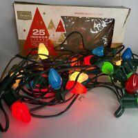 Vintage SEARS Christmas One 25 Lights C7 1/2 Indoor Light Set  MULTICOLOR