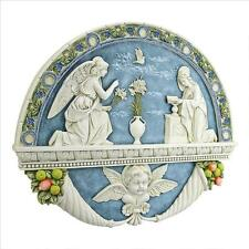 ANGEL GABRIEL ANNOUNCING VIRGIN MARY AS THE CHOSEN ONE BY GOD WALL SCULPTURE