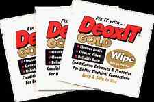 DeoxIT® Gold wipes K-G1W-50 50 pack of individual wipes - international shipping