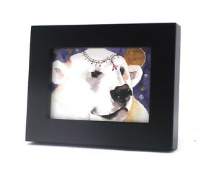 ACEO picture frame for 2.5 x 3.5 art - BLACK WOOD single opening for aceo art