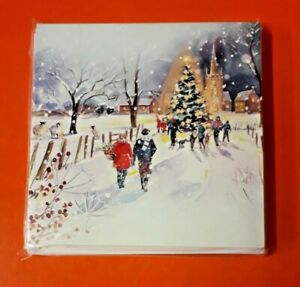 PEACE HOSPICE CARE CHRISTMAS CARDS 2021 ~AROUND THE TREE IN THE VILLAGE ~10 PACK