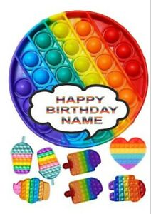 POPIT pre cut  Edible cake topper - Wafer/ Rice Paper or Icing