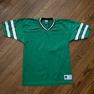 Champion NY Jets Blank Football Jersey NFL Men 44 M Green Retro Vintage USA Made