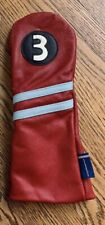 Stitch Golf 3 wood Racer Headcover Leather Excellent Condition