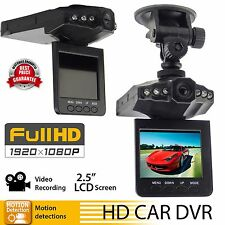 "6LED 2.5"" Full HD1080P Car DVR Vehicle Camera Video Recorder Dash Cam270°IRSS CA"