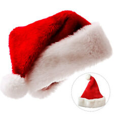 Santa Claus Caps Plush Red  White Santa's Hat Christmas Party Women Men Costume