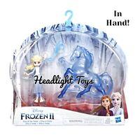 Disney Frozen 2 Mini Figure Doll Pack ELSA & NOKK Water Spirit Horse Playset HTF