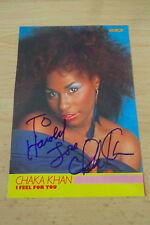 Chaka Khan autógrafo signed 10x14 cm Revista Imagen